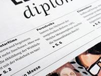 Le Monde Diplomatique nav design