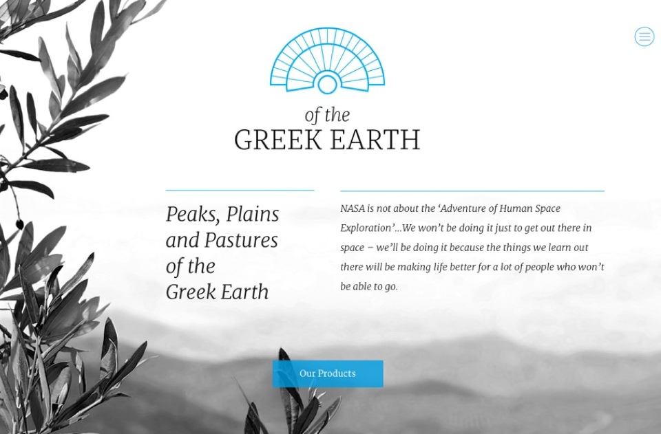 Web Design για το Of The Greek Earth